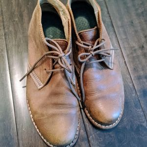 Brown Leather Roots Booties